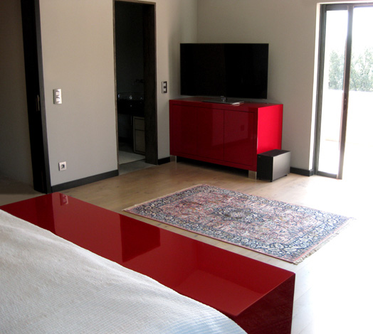meuble tv fly rouge solutions pour la d coration. Black Bedroom Furniture Sets. Home Design Ideas
