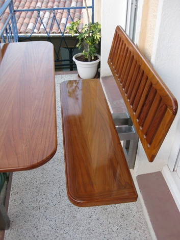 Paul blanc menuiserie nos r alisations de meubles for Table de balcon ikea