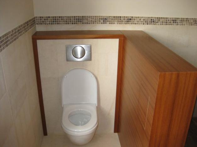 Salle De Bain Blanc Teck : Console de salle de bain en Teck et verre